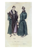 French Fashion Plate of a Pelisse Russe  1830