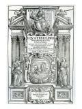 Frontispiece to 'Quattro Libri Dell'Architettura' by Andrea Palladio  1570