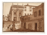 Michelangelo's House on the Capitoline Hill  1833