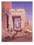 Doorway from Temple of Isis to Temple Called Bed of the Pharaohs  Island of Philaea  Egypt