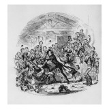 Nicholas Astonishes Mr Squeers and Family  Illustration from `Nicholas Nickleby'