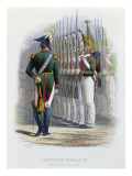 Tsar Nicholas I of Russia Inspecting His Guards Standing to Attention