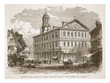 Faneuil Hall  Boston  Which Webster Called 'The Cradle of Liberty'  from a Book Pub 1896