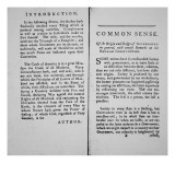 Introduction and First Page of 'Common Sense' by Thomas Paine  1776