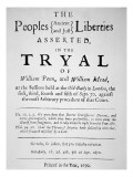 The Trial of William Penn in London for Preaching the Quaker Religion  1670