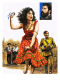 The Gipsy Girl Who Conquered the World  Carmen  Illustration from 'The Music-Makers'  1982