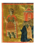Some Brothers Praying to St Theodore  from a Mariegola  1350