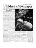 Can Man Be Landed on Mars  Front Page of 'The Children's Newspaper'  October 1951