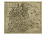 Map of Vicenza  Illustration from &#39;Civitates Orbis Terrarum&#39;  C1580