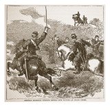 General Sheridan Turning Defeat into Victory at Cedar Creek  from a Book Pub 1896