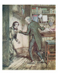 Scrooge and Bob Cratchit  from Dickens' 'A Christmas Carol'