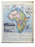 Map of Colonial Africa  from a School Book  Published in 1911