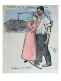 Marianne with a Worker  Illustration from 'Le Chambard Socialiste' 1891