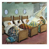 Wendy  Michael and John Sleeping  Illustration from &#39;Peter Pan&#39; by JM Barrie