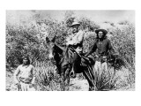 General George Crook on a Mule  with Two Apache in Arizona  1882