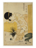 A Mother Dozing While Her Child Topples a Fish Bowl