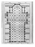 Plan of Milan Cathedral  Illustration from 'De Architectura' by Vitruvius  Como  1521
