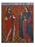 St John the Baptist and St John the Evangelist  Paner