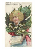 Advertisement for Maple City Self Washing Soap  C1880