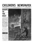 The Berlin Wall  Front Page of 'The Children's Newspaper'  February 1964