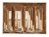 The Colonnade of St Peter's Square  Seen from Outside  1833