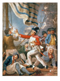 John Paul Jones Shooting a Sailor Who Had Attempted to Strike His Colours in an Engagement