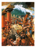 A Tidal Wave Devastating a City in Crete in the 15th Century Bc