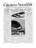 The Flying Town of the Future  Front Page of 'The Children's Newspaper'  February 1934