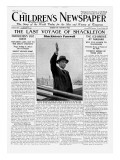The Last Voyage of Shackleton  Front Page of 'The Children's Newspaper'  February 1922