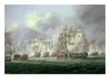 Battle of Cape St Vincent  14th February 1797: the British Defeat the Spanish
