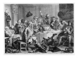 A Midnight Modern Conversation  from &#39;The Works of William Hogarth&#39;  1733