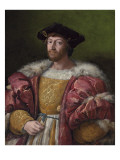 Portrait of Lorenzo De Medici  Duke of Urbino  Holding a Gold Box  C1518