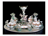 Part of a Meissen Dinner Service Ordered by Frederick the Great for General Von Mollendorf