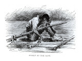 Asleep on the Raft  Illustration from 'The Adventures of Huckleberry Finn'  by Mark Twain