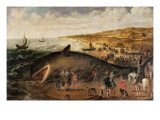 The Whale Beached Between Scheveningen and Katwijk  January 1617