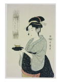 A Half Length Portrait of Naniwaya Okita  Depicting the Famous Teahouse