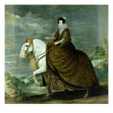 Equestrian Portrait of Elisabeth De France  Wife of Philip Iv of Spain