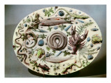 Rustique Figuline' Dish with a White Background