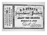 Ticket for the Impeachment of President Andrew Johnson