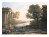 A Pastoral Landscape with Ruined Temple  C1638
