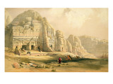 Petra  March 8th 1839  Plate 96 from Volume Iii of &#39;The Holy Land&#39;  Engraved by Louis Haghe