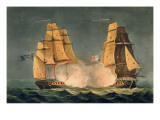 The Capture of La Nereide  December 21st 1797  Engraved by Thomas Sutherland