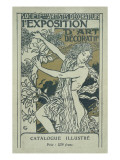Catalogue Cover for the 1st Exhibition of Decorative Art in Paris  January 1901