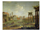 The Campo Vaccino  Rome Looking Towards St Francesca Romana and the Arch of Titus