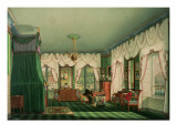 The Bedroom of Elizabeth of Bavaria  Schloss Tegernsee C1840