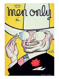 Cover for 'Men Only' Magazine Depicting Harry S Truman