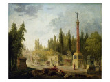 The Garden of the Musee Des Monuments Francais  1795-1808