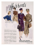 Advertisement for Women's Blouses and Suits at Harrods  1945