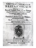 Titlepage to 'Theatrum Chemicum Britannicum' by Elias Ashmole  1652