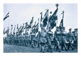 Parade of the Banner Company of the 'steel Helmets'  Berleburg  18-19th June 1932